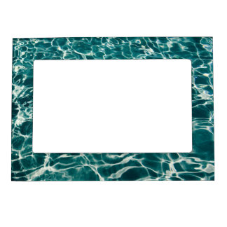 Teal Green Pool Pattern Magnetic Picture Frame