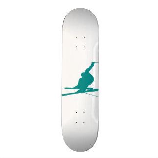 Teal Green Snow Ski Skateboard Decks