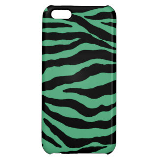 Teal Green Tiger Striped Cases Sleeves iPhone 5C Case
