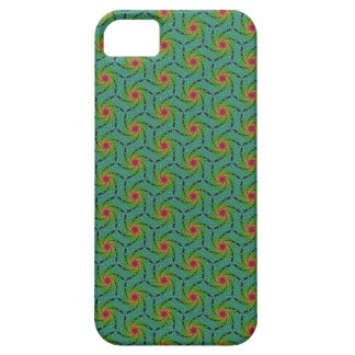 Teal green yellow and red fractal trippy design iPhone 5 cover