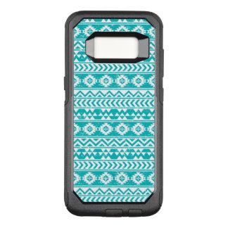 Teal Grunge Aztec Tribal Pattern OtterBox Commuter Samsung Galaxy S8 Case