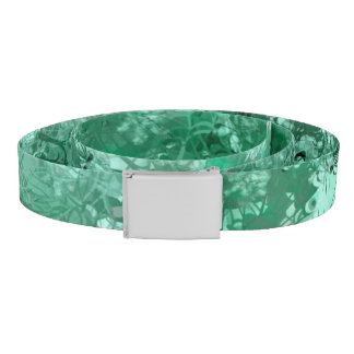 Teal Grunge Collage Belt