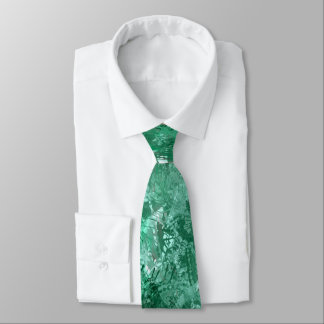 Teal Grunge Collage Tie