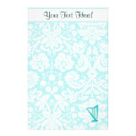 Teal Harp Stationery
