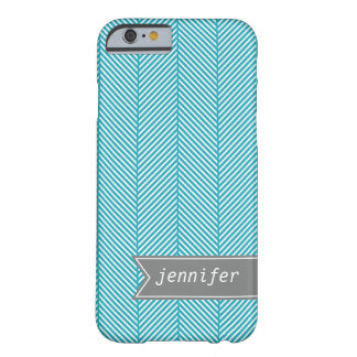 Teal Herringbone Pattern {pick your color} Barely There iPhone 6 Case