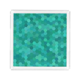Teal Hexagonal Acrylic Tray