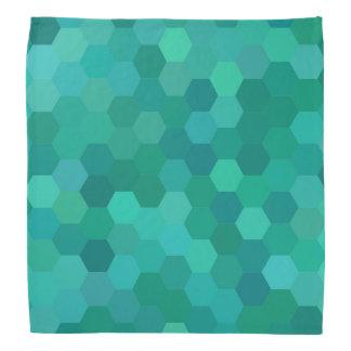 Teal Hexagonal Bandana