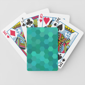 Teal Hexagonal Bicycle Playing Cards