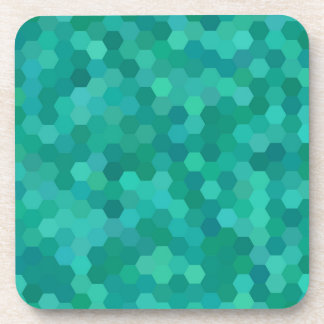 Teal Hexagonal Coaster