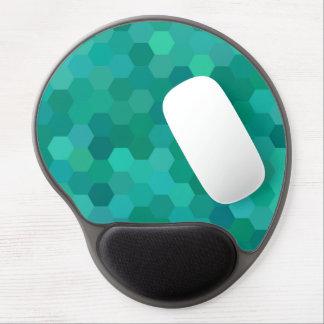 Teal Hexagonal Gel Mouse Pad