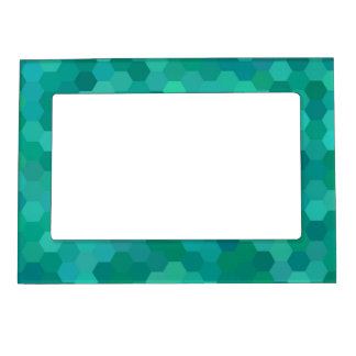 Teal Hexagonal Magnetic Picture Frame