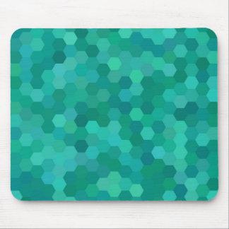 Teal Hexagonal Mouse Pad