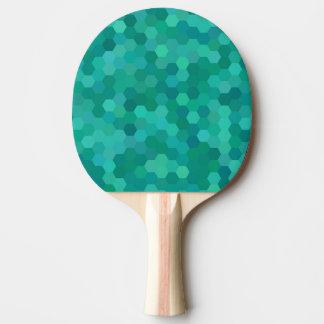Teal Hexagonal Ping Pong Paddle