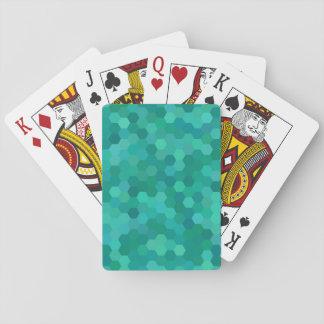 Teal Hexagonal Playing Cards