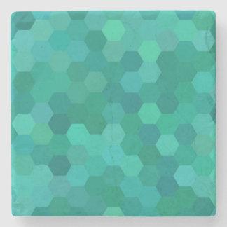 Teal Hexagonal Stone Coaster