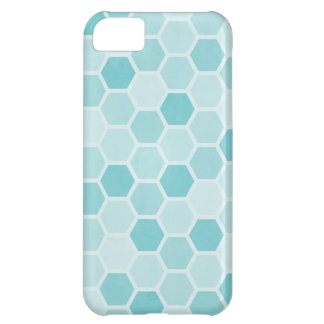 Teal Hexagons iPhone 5C Case