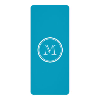 Teal High End Colored Personalized 4x9.25 Paper Invitation Card