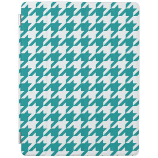 Teal Houndstooth 1 iPad Cover