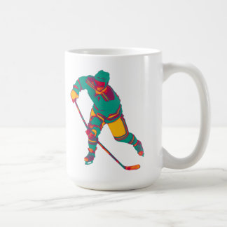 Teal Ice Hockey Player, Personalised Mug