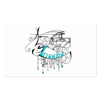 Teal Imagine In Lines and Dangles Pack Of Standard Business Cards