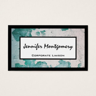 Teal Industrial Texture Professional Business Card