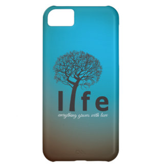 Teal Inspirational Life Tree Quote iPhone 5C Cover
