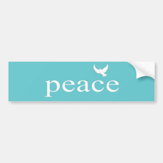 Teal Inspirational Peace Quote Bumper Sticker