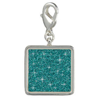 Teal iridescent glitter