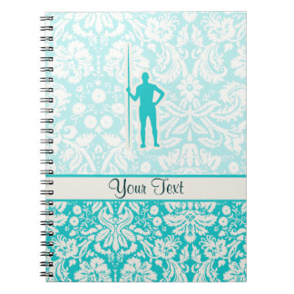 Teal Javelin Throw Notebook