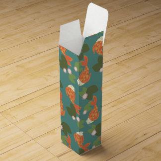 Teal Koi Pond Wine Gift Box