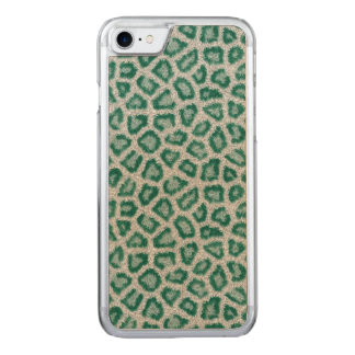 Teal Leopard Carved iPhone 8/7 Case