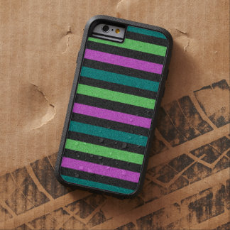Teal, Lime Green, Hot Pink Striped by STaylor Tough Xtreme iPhone 6 Case