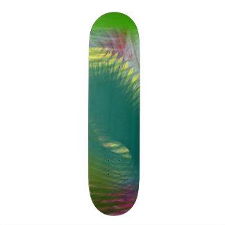 Teal Lime Sage Green Colorful Whirlwind Swirls 2 Skate Board