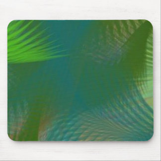 Teal Lime Sage Olive Green Whirlwind Swirls Mousepads