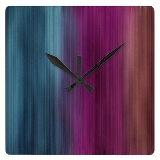 Teal Magenta Sienna Modern Clocks