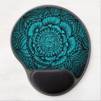 Teal Mandala Gel Mousepad