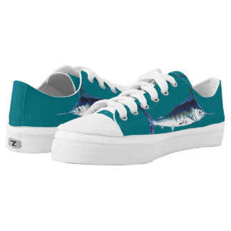 Teal Marlin Shoes Printed Shoes