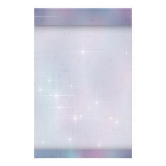 Teal Mauve Sparkle Nebula Stationery