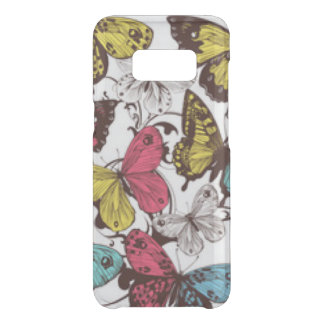 Teal Mauve Yellow Butterflies Uncommon Samsung Galaxy S8 Case
