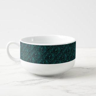 Teal Maze Soup Mug