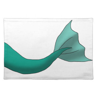 Teal Mermaid Tail Placemats