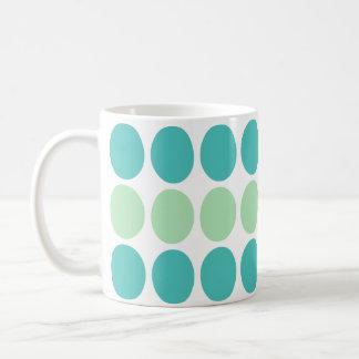 Teal & Mint Dots Pattern mug