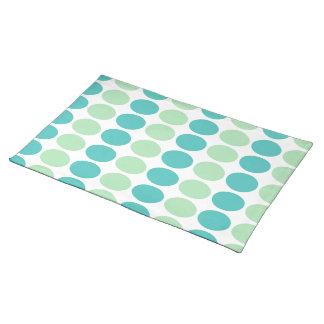 Teal & Mint Dots Placemat Cloth Place Mat