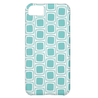 Teal Modern Geometric Pattern iPhone Case For iPhone 5C