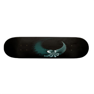 Teal Moon Deck Skateboard