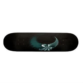 Teal Moon Deck Skateboard