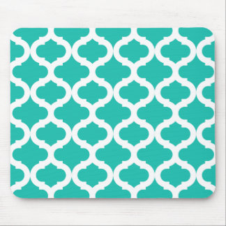 Teal Moroccan Pattern Mouse Pad