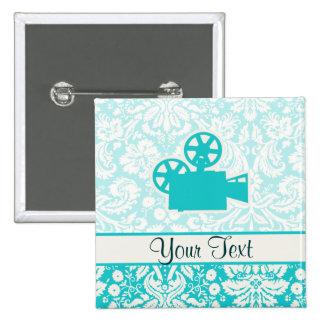 Teal Movie Camera Pins
