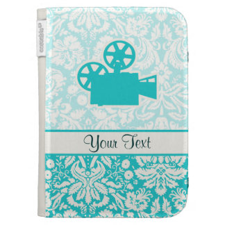 Teal Movie Camera Kindle Case