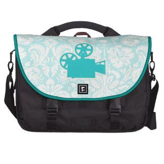 Teal Movie Camera Laptop Bags